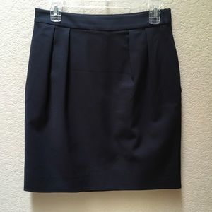 Kate Spade Pencil Skirt Navy Blue Size 6